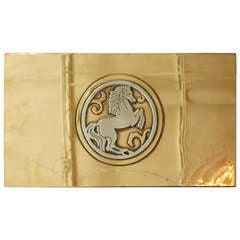 "Hallmarked Bronze and Sterling Silver Art Deco ""Horse"" Hinged Box / SATURDAY SALE"