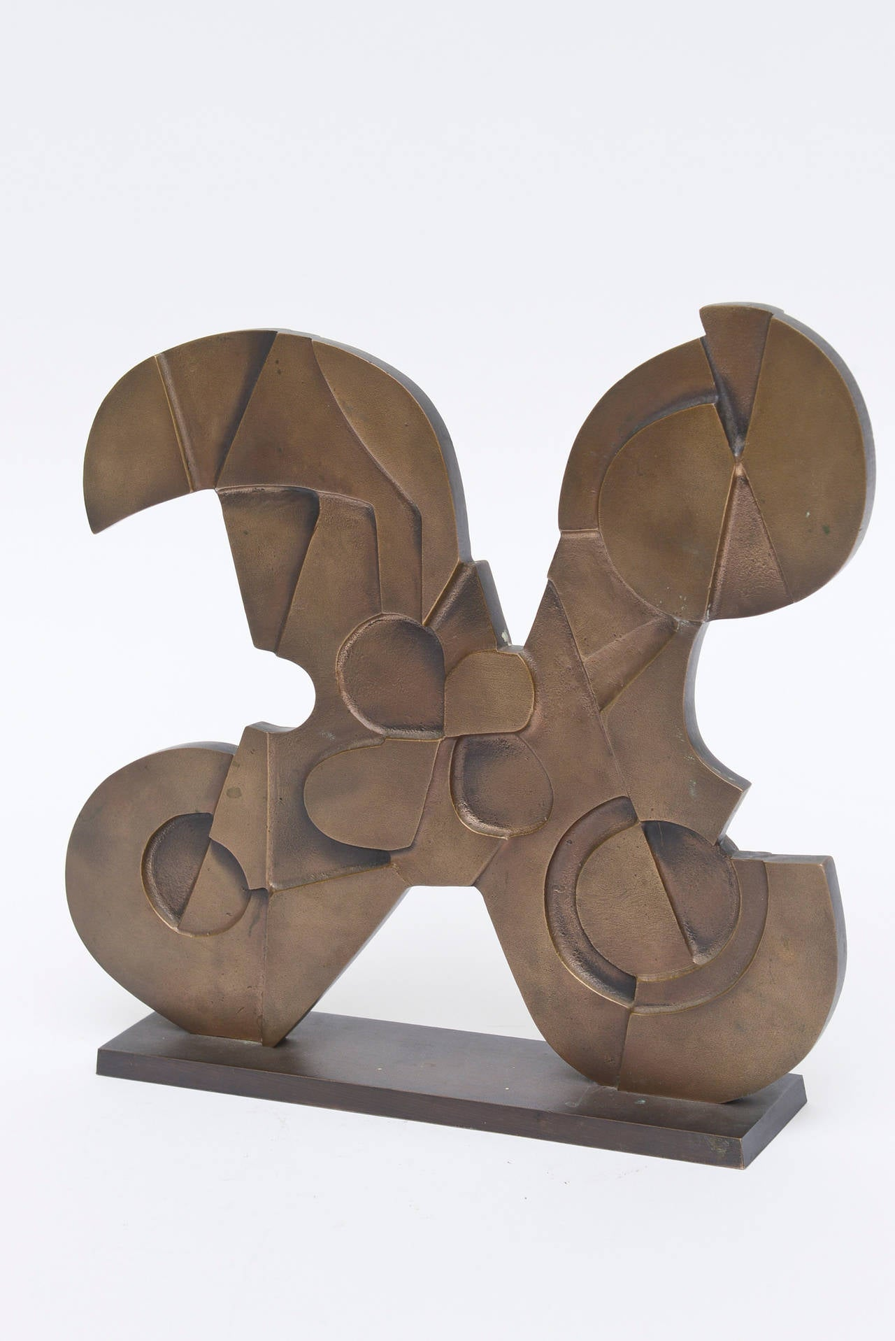 Signed Italian Consagra Abstract, Modernist and Cubist Bronze Sculpture / SALE 2