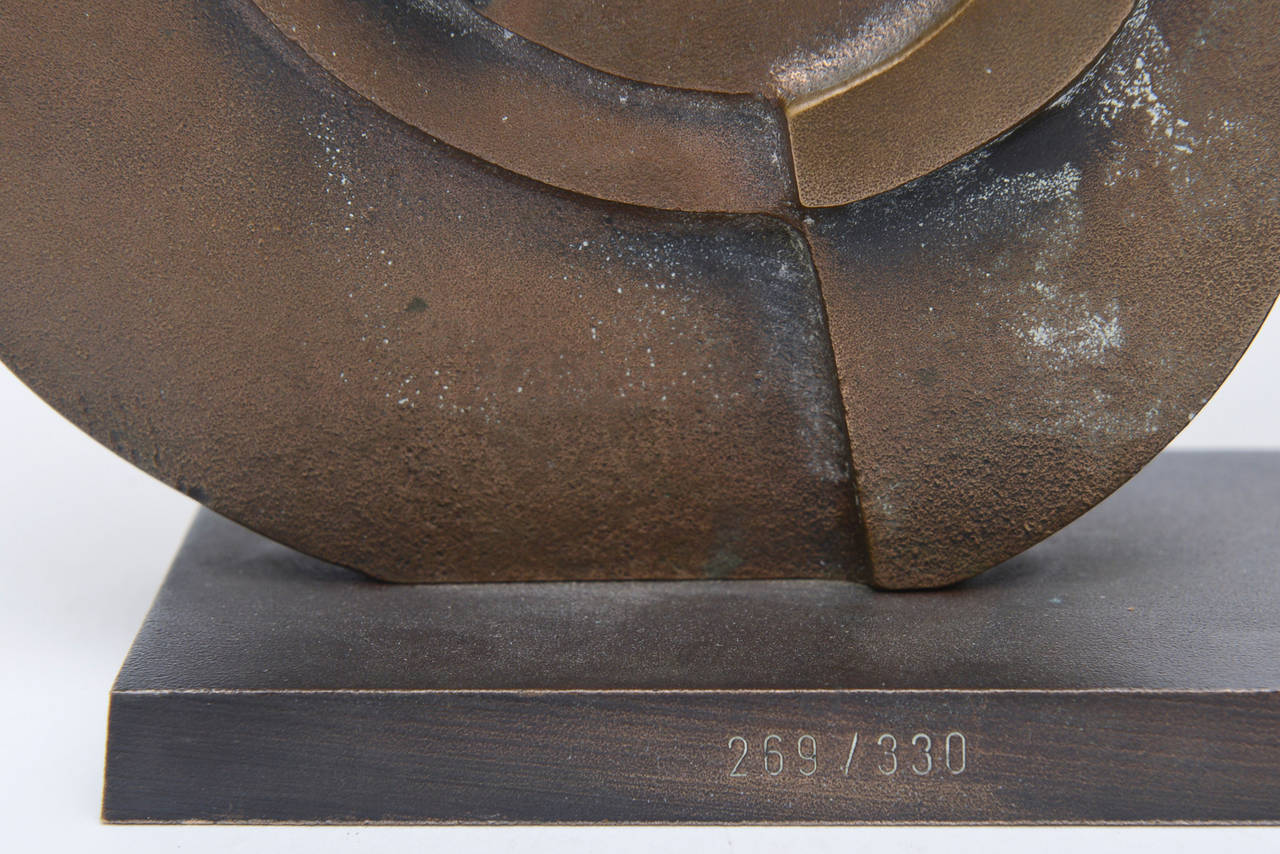 Signed Italian Consagra Abstract, Modernist and Cubist Bronze Sculpture / SALE 6