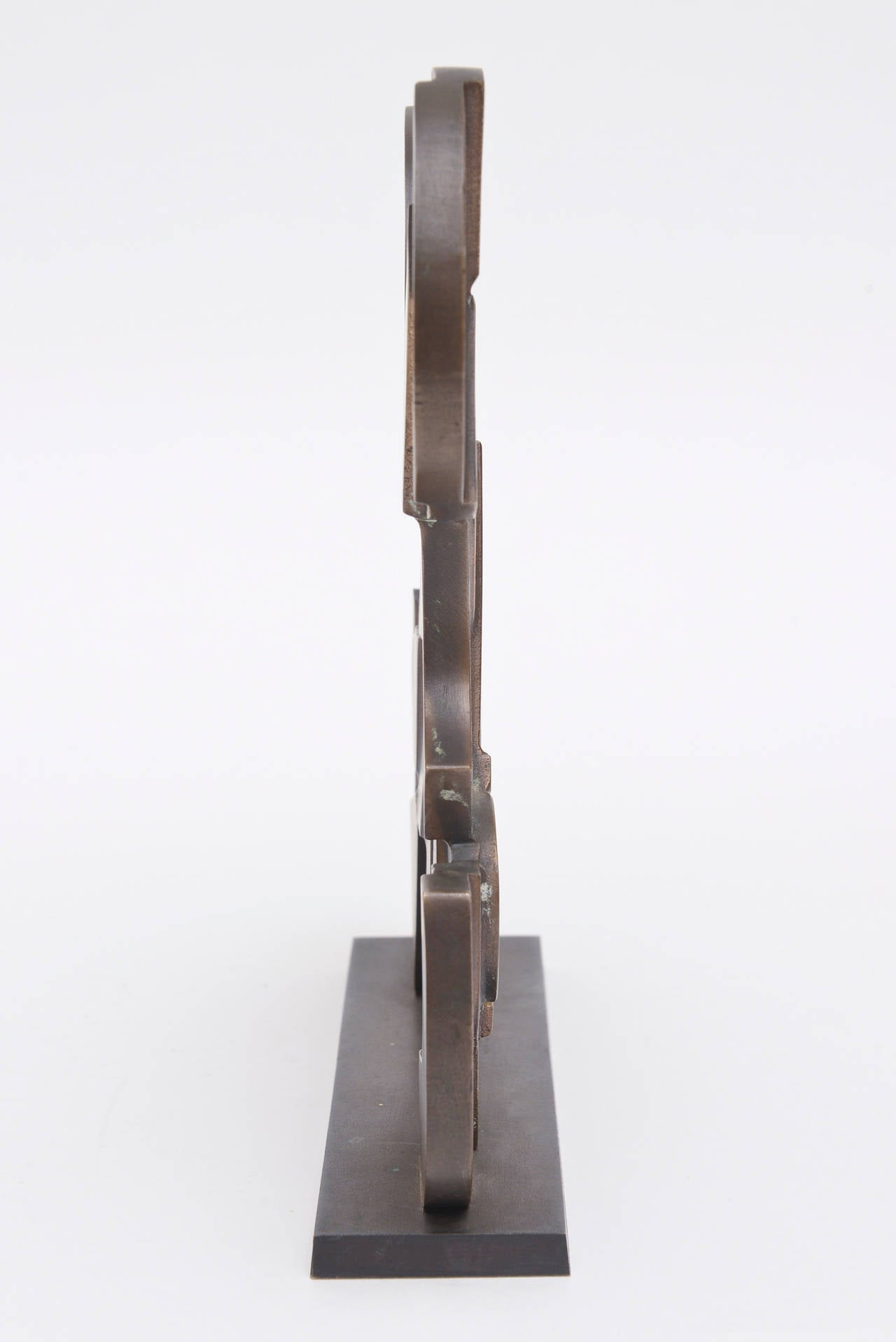 Signed Italian Consagra Abstract, Modernist and Cubist Bronze Sculpture / SALE 9