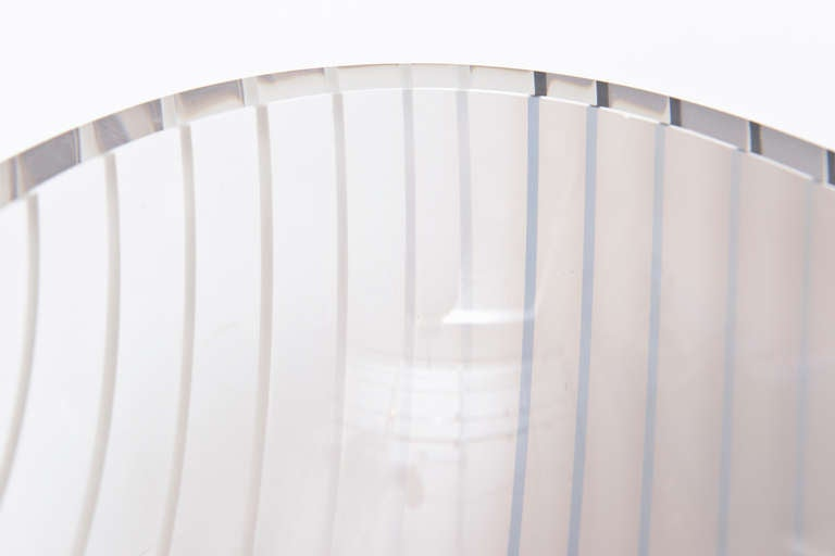 Mid-20th Century Livio Seguso Murano Gray, white, Black Textured Glass Bowl Vintage