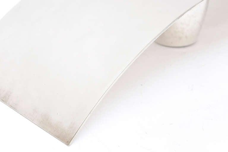 Lino Sabattini Cormorana Silver Plate Sculptural Modernist Vase or Candlestick For Sale 2