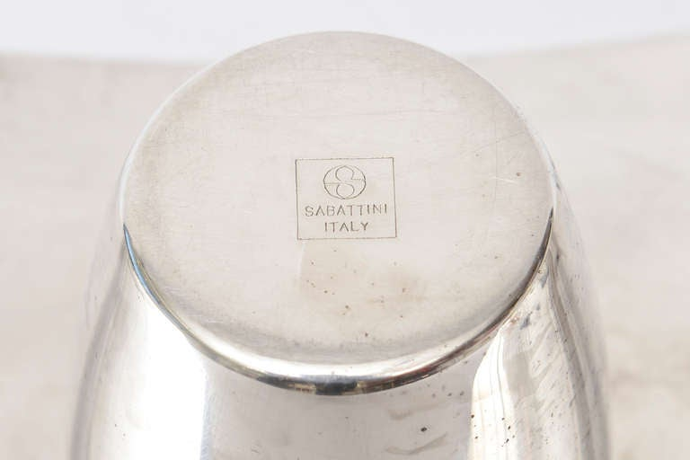 Lino Sabattini Cormorana Silver Plate Sculptural Modernist Vase or Candlestick For Sale 3