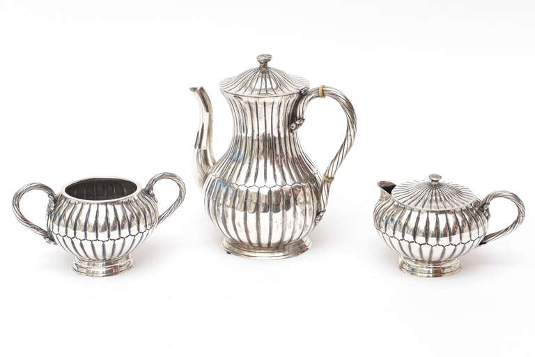 Sterling Silver Sanborn Tea And Coffee Service Vintage For