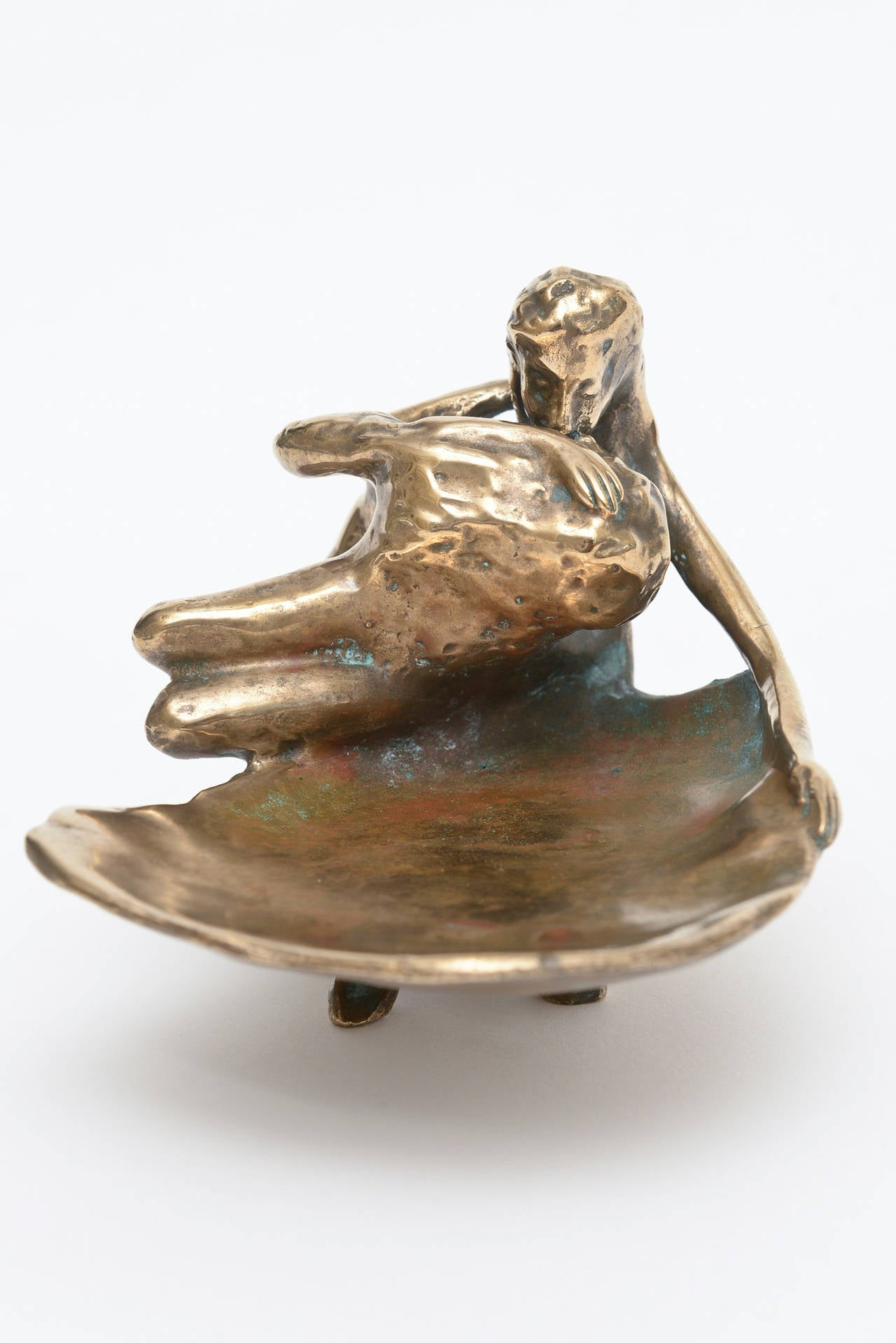 Late 20th Century Bronze Victor Zaikine Erotic Sculpture For Sale