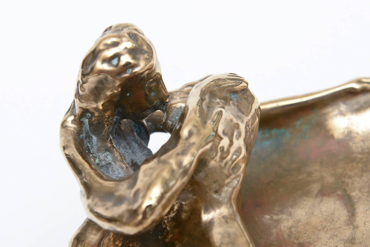 Bronze Victor Zaikine Sculpture Titled Lovers Embrace For Sale 1