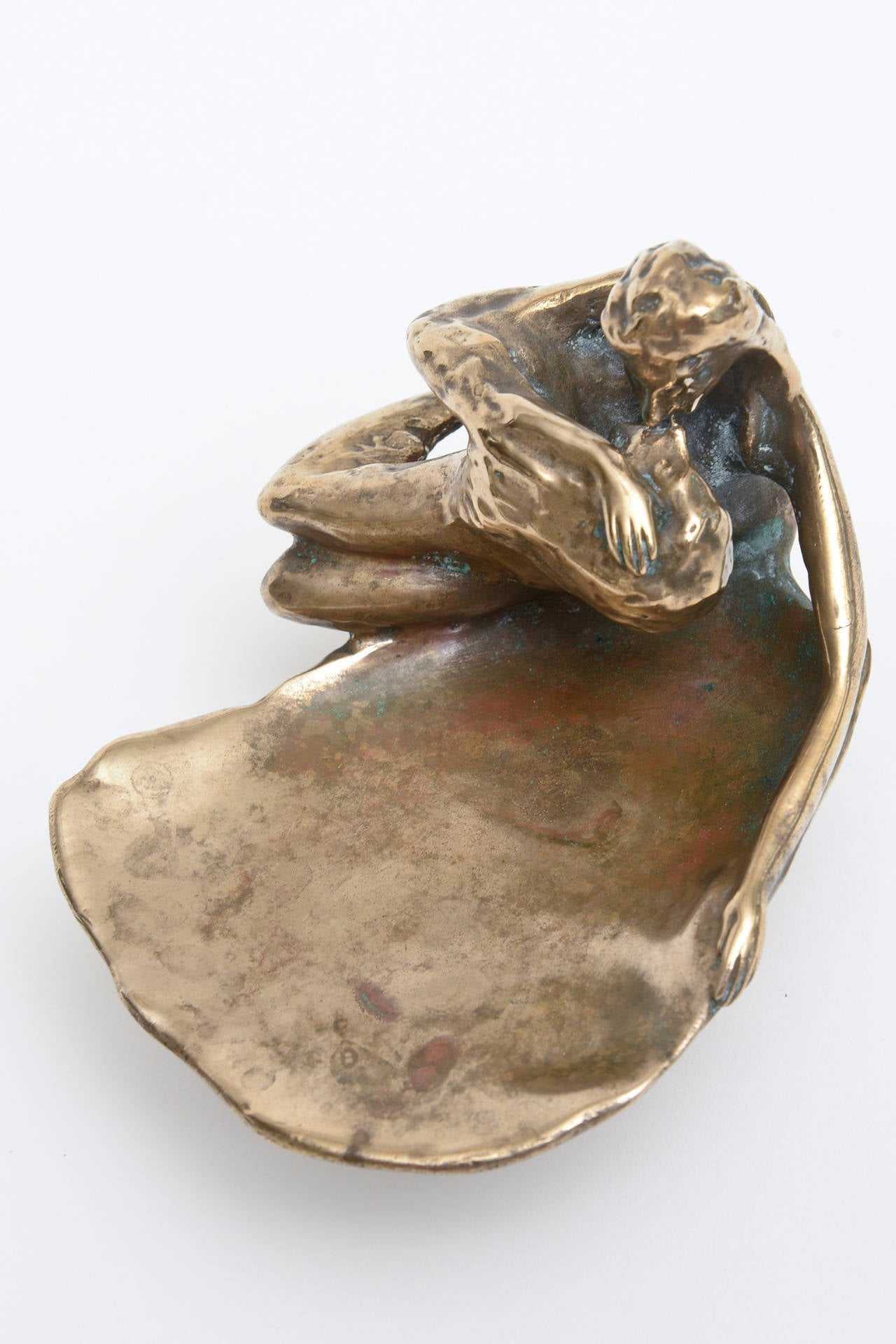 Bronze Victor Zaikine Sculpture Titled Lovers Embrace For Sale 2