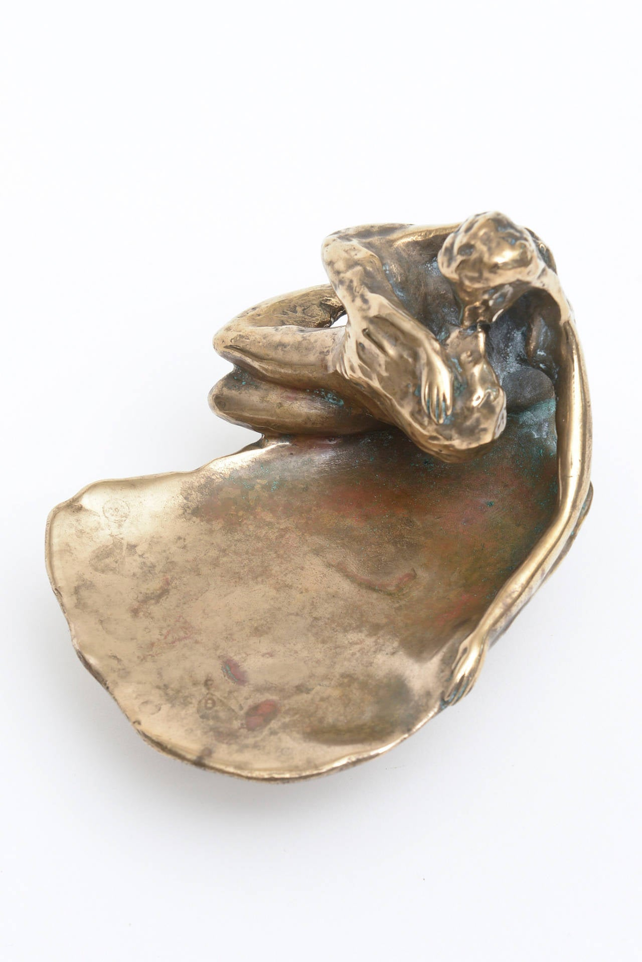 Bronze Victor Zaikine Sculpture Titled Lovers Embrace For Sale 4