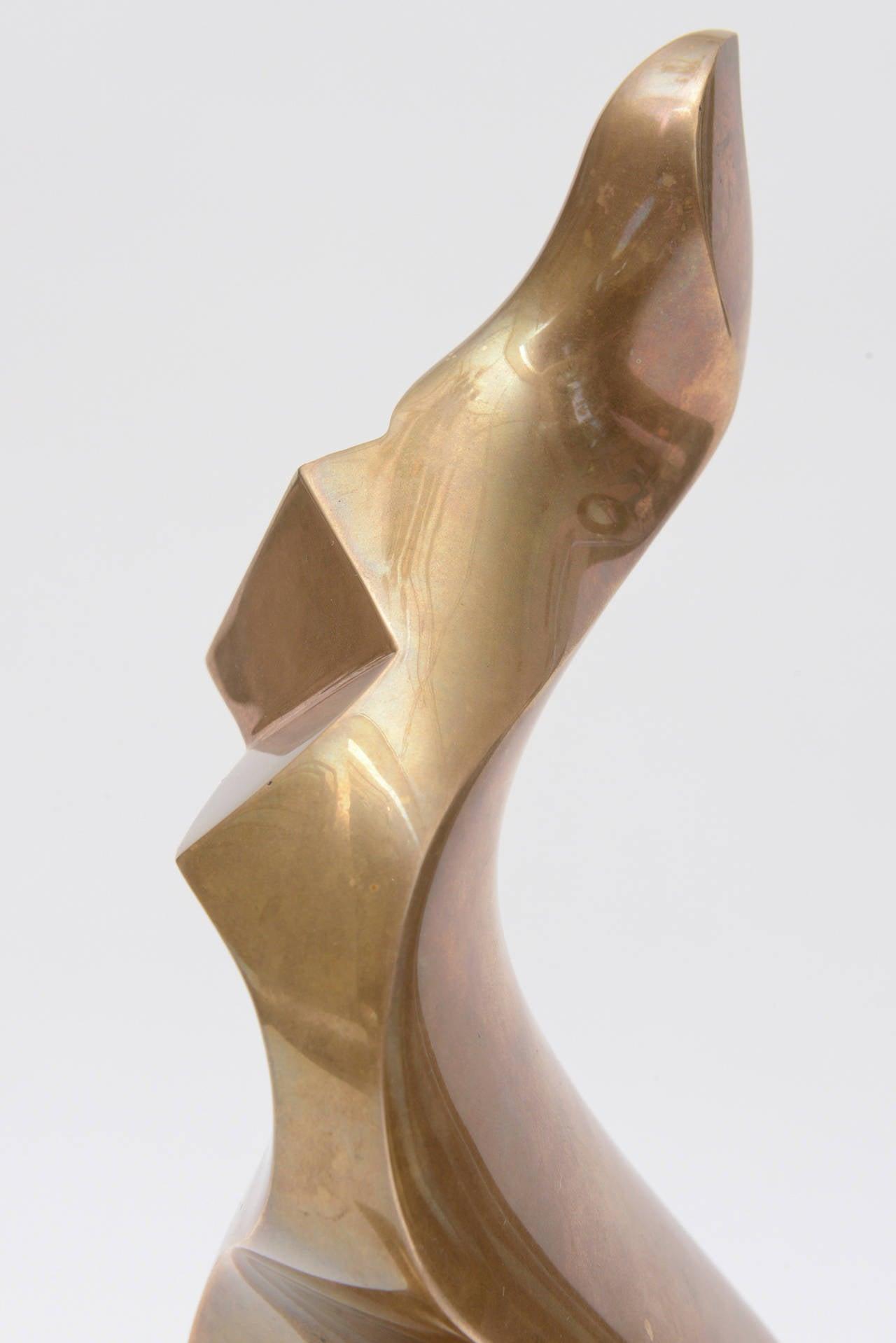 Late 20th Century Antonio Grediaga Kieff Bronze Abstract Sculpture Vintage For Sale