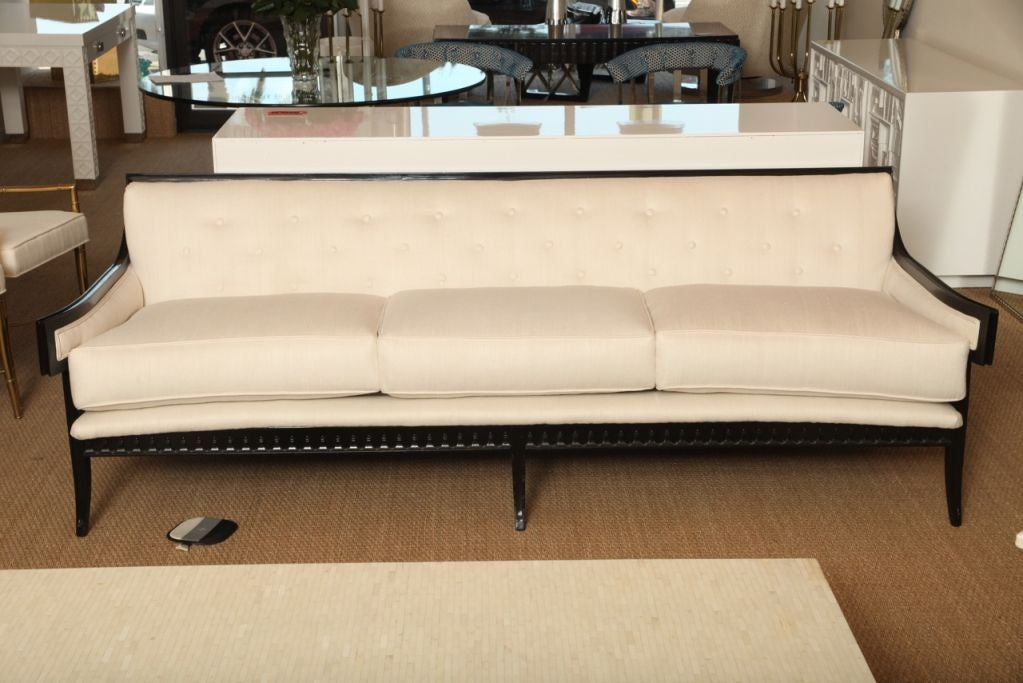 elegant and unusual moderne sofa at 1stdibs. Black Bedroom Furniture Sets. Home Design Ideas