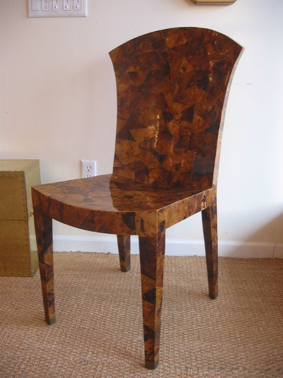 Unusual And Stately Maitland Smith Desk Chair At 1stdibs