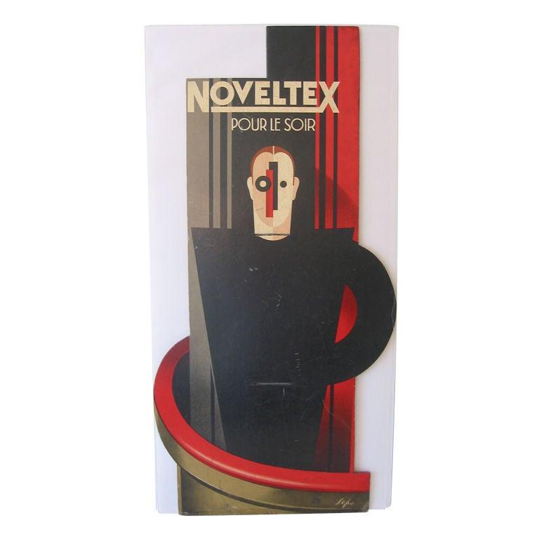 Art Deco Noveltex Maquette Painting by Sepo