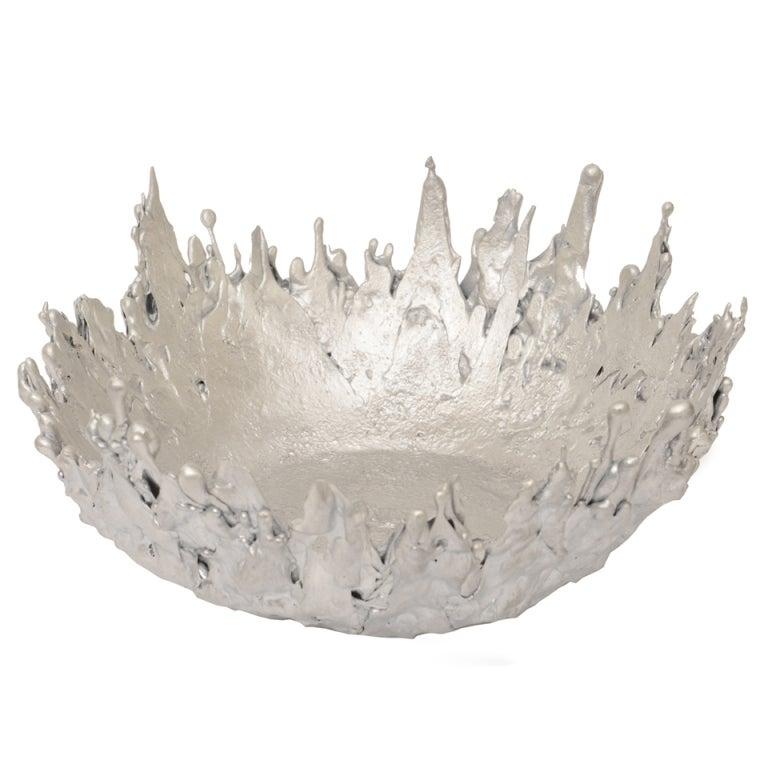 Molten Steel Sculptural Bowl