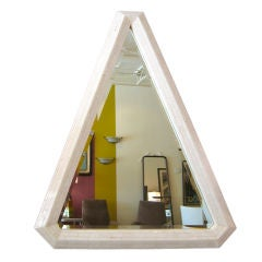 Outstanding Triangular Tessellated Bone Mirror