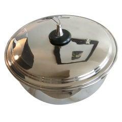 Nickeled Silver Tommi Parzinger Serving Bowl