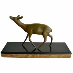 French Art Deco Fawn Desk Sculpture