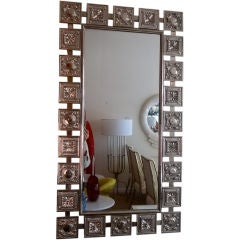 Mid Century Nickled Silver Wall Mirror