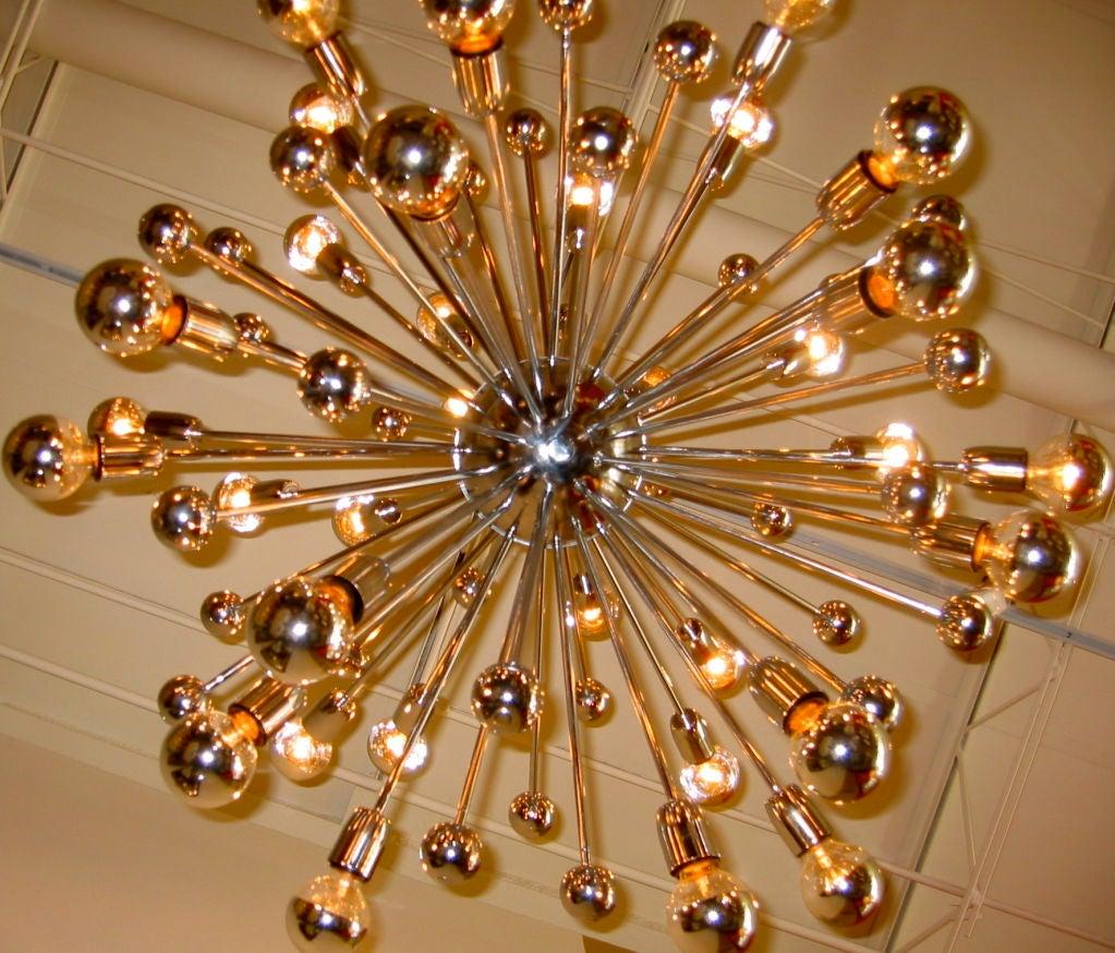 Monumental Fantastic Chrome Sputnik Chandelier At 1stdibs