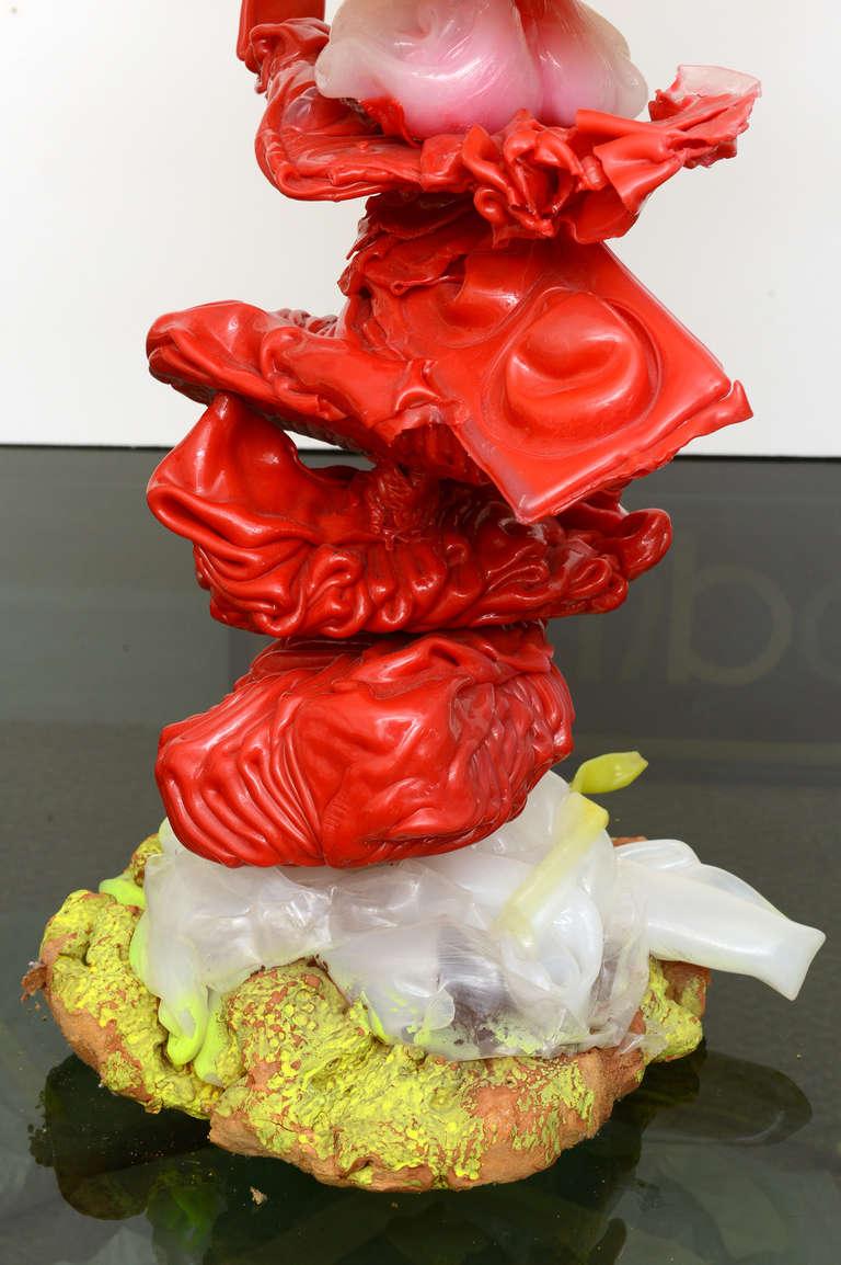 Modern Gaetano Pesce Italian Resin and Mixed-Media Sculpture Art For Sale