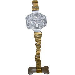 Fabulous And Monumental Signed Wrist Watch Sculpture/Clock