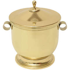 Tommi Parzinger Mid-Century Modern Brass and Glass Ice Bucket