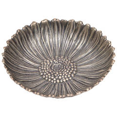 Italian Buccellati Small Sterling Silver Flower Ring Bowl or Dish