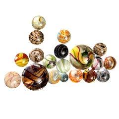 Collection of 19 Glass Italian Murano Kalidiscope Balls