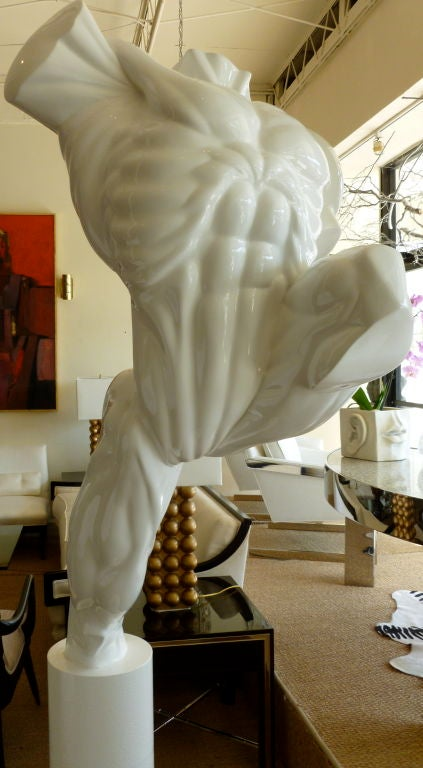 20th Century Life-Size Male Torso Resin and Iron Outdoor / Indoor Sculpture For Sale