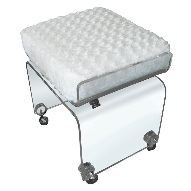 Great Lucite Vanity Stool Bench At 1stdibs