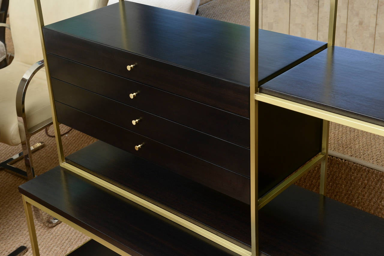 original midcentury signed paul mccobb twopart open bookcase or etagere 3