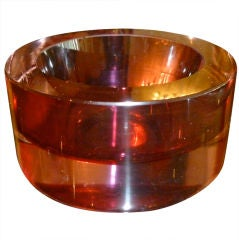 Italian Murano Purple Cenedese Glass Sommerso Bowl