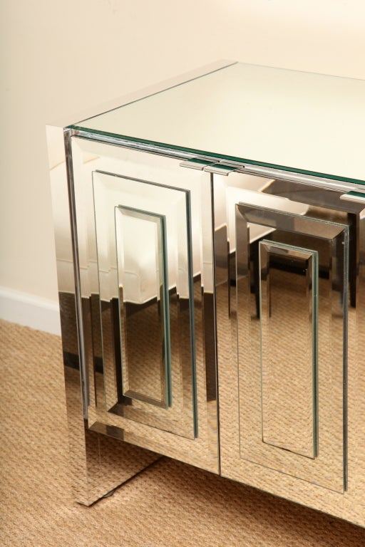 Ello iconic mirrored and glass cabinet buffet at stdibs