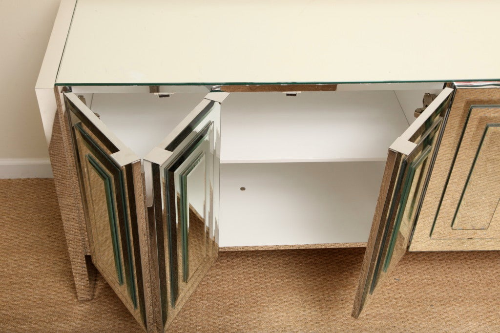 Mirrored Glass Buffet ~ Ello iconic mirrored and glass cabinet buffet at stdibs