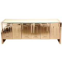 Ello Iconic MIrrored and Glass Cabinet/Buffet