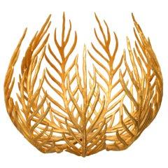 French Bronze  Sculptural Bowl By Herve Van Der Straeten