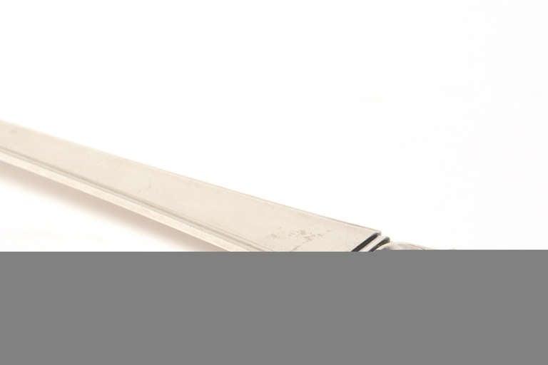 Sterling Silver Hallmarked Mid-Century Modern Danish Frigast Serving Fork For Sale 2