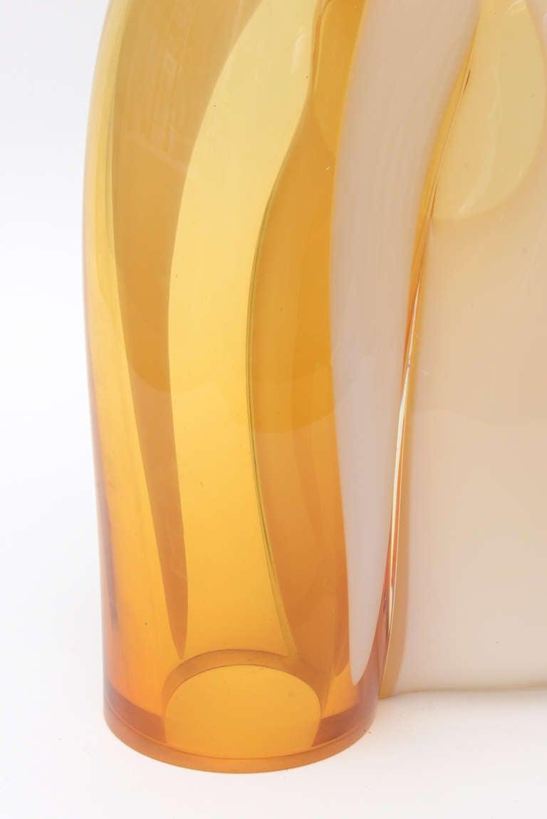 Vistosi Murano Sculptural Glass Lamp Vintage In Good Condition For Sale In North Miami, FL