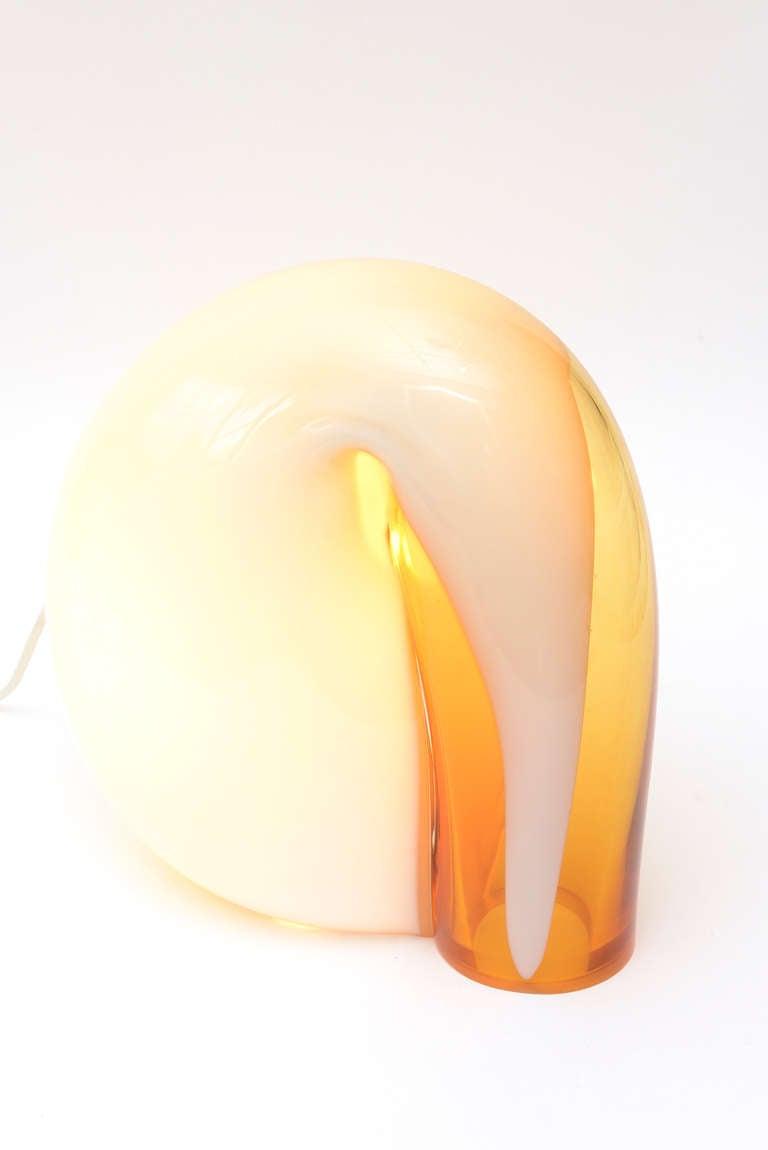 Vistosi Murano Sculptural Glass Lamp Vintage For Sale 1