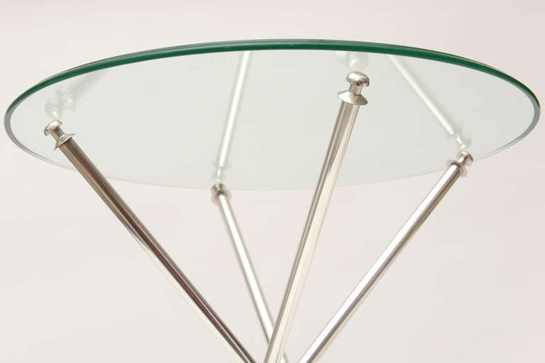 Tripod Folding Silver-Plate Side or Drink Tables Vintage For Sale 3