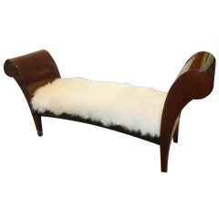 Classical Meets Modern Lacquered Goatskin Bench