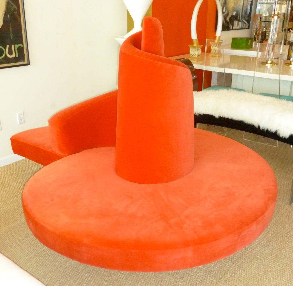 "Italian ""Red Tatlin"" Spiral Sofa by Cananzi and Semprini ..."