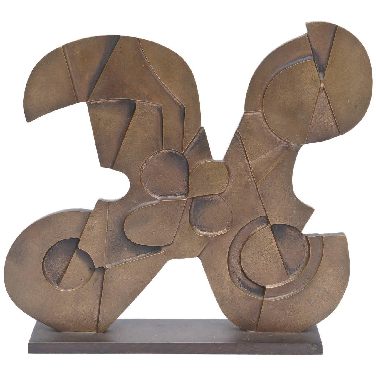 Signed Italian Consagra Abstract, Modernist and Cubist Bronze Sculpture / SALE 1