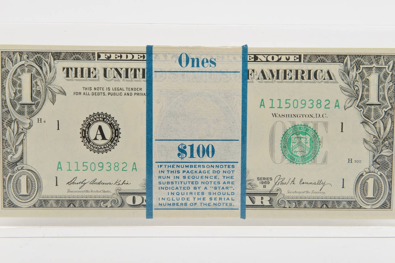 Tongue N Cheek Vintage Dollar Bill Allusion Pop Art Lucite Sculpture  For Sale 2