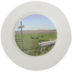 """""""Upstate  Collection"""" Porcelain Charger/Serving Plate"""