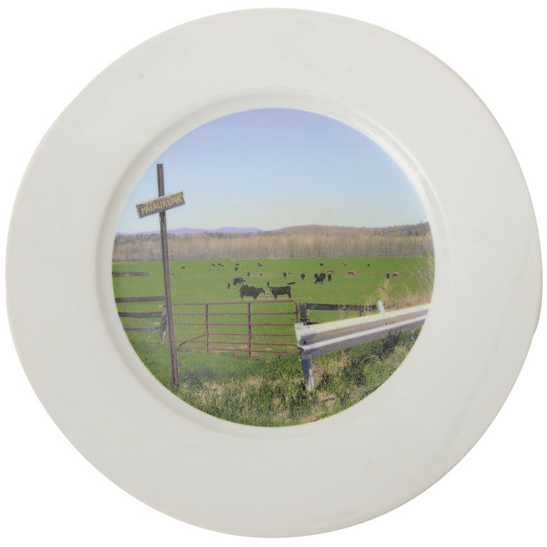 """""""Upstate Collection"""" Porcelain Charger or Serving Plate"""