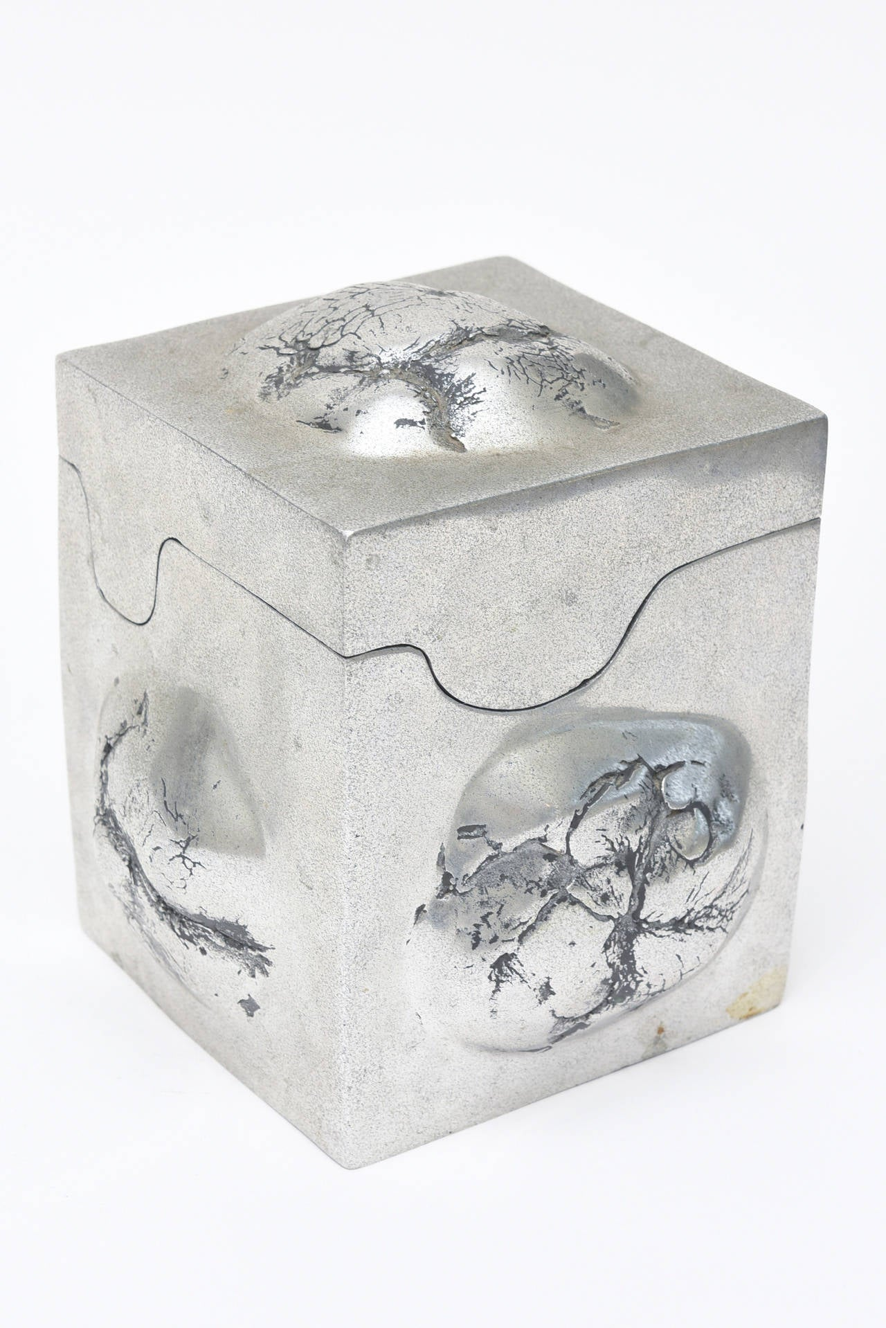 Three Signed Aluminum Sculptural Objects in the Style of Richard Etts In Good Condition For Sale In North Miami, FL