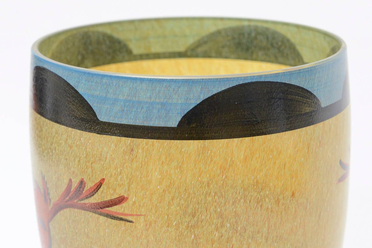 Ulrica Hydman Vallien for Kosta Boda Primitive Painted Glass Vase 1