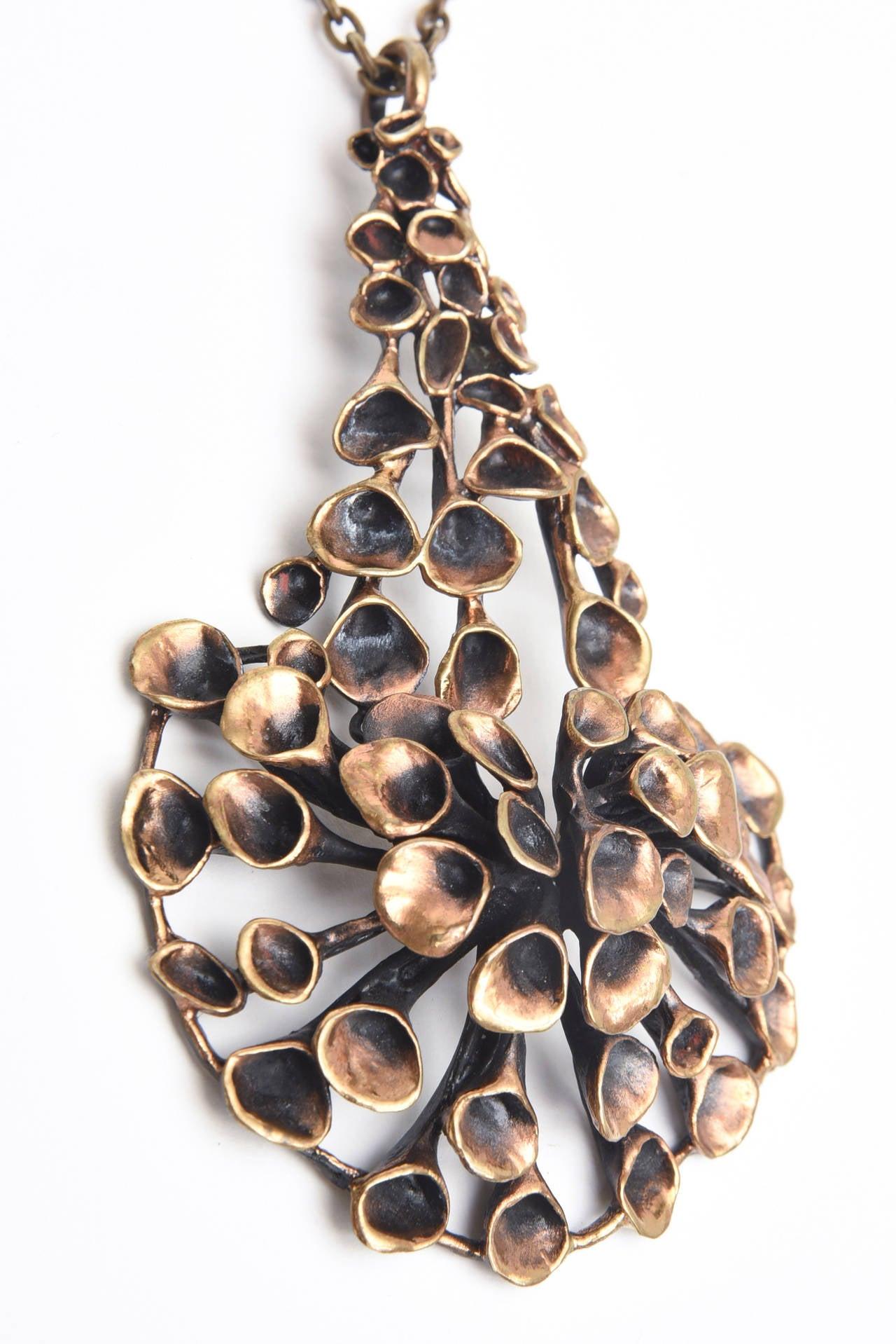 Bronze Brutalist Studio Necklace 3