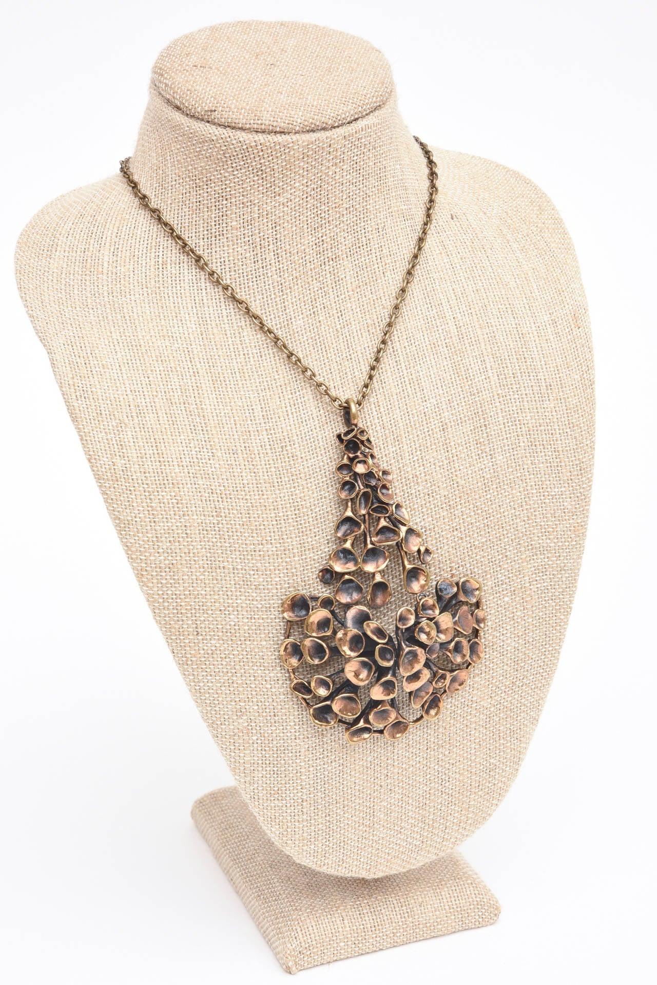 Bronze Brutalist Studio Necklace 4