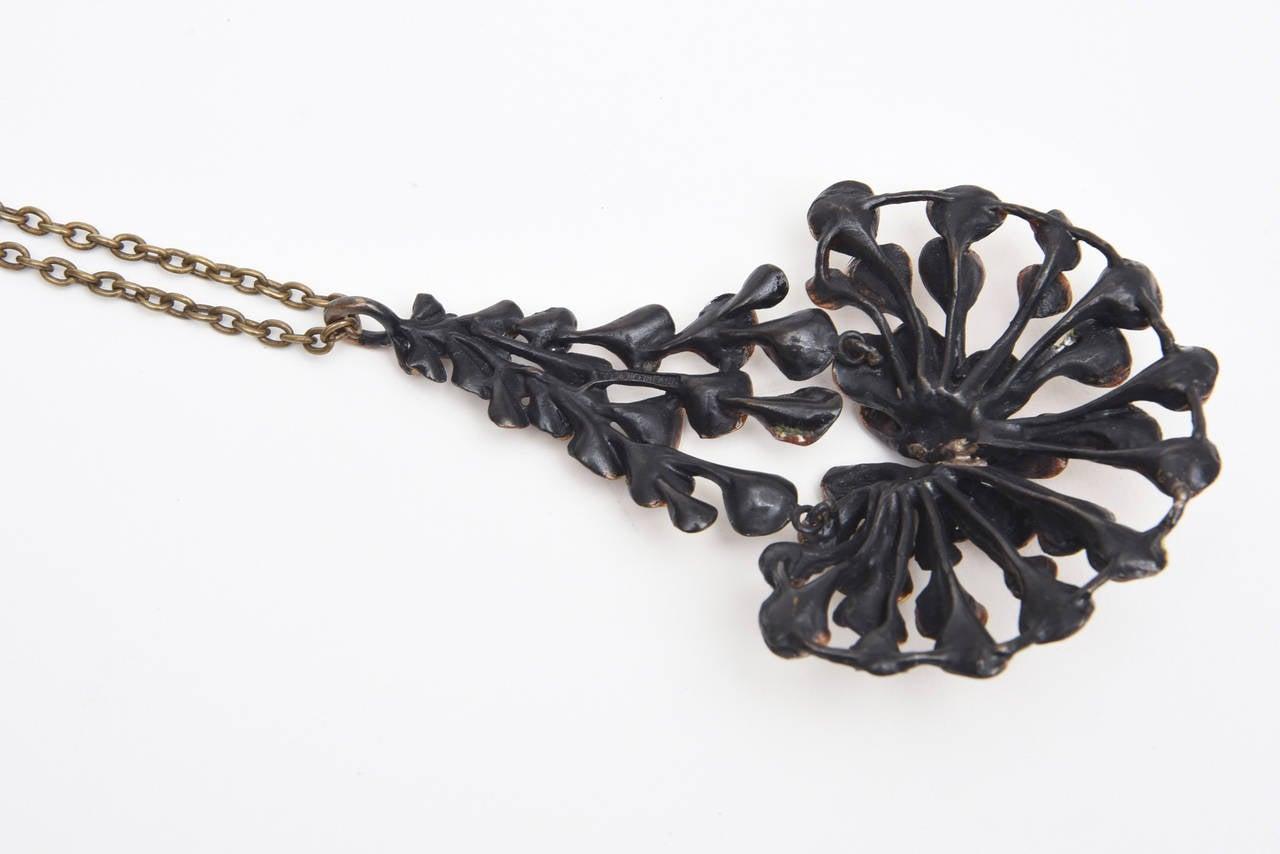 Bronze Brutalist Studio Necklace 6